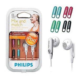 Fone de Ouvido Philips SHE2610 5 Cores Intercambiáveis