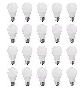 Kit 20 Lampada Led 7w Globo Bulbo E27 Bivolt 90% De Economia
