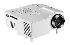 Mini Projetor Portatil Led 1920x1080p 60 Pol Hdmi Vga Usb Sd