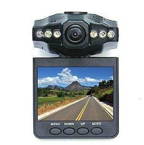 Câmera Filmadora Veicular Portátil Visor HD DVR LCD