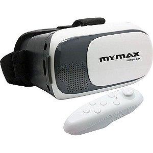 Óculos 3D Realidade Virtual V-Box Rift Cardboard + Controle - My Max