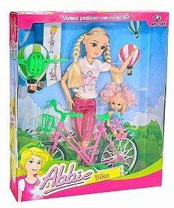Boneca Abbie Bike Bicicleta Menina Passeio