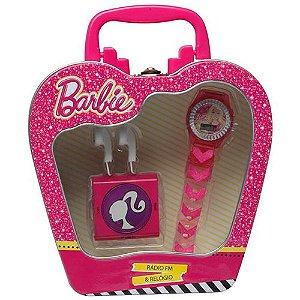 Conjunto Barbie Fashion com Rádio e Relógio - Candide