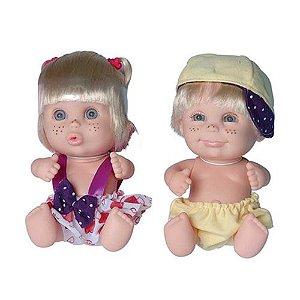 Bonecos Bebês Gêmeos Babies Twins - Candide