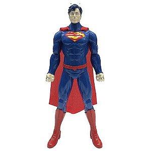 Boneco Superman 35cm com Som Fala Frases - Candide