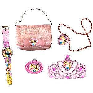 Kit Encantado Princesas Disney - Radio, Relógio, Tiara, Bolsa e Colar - Candide