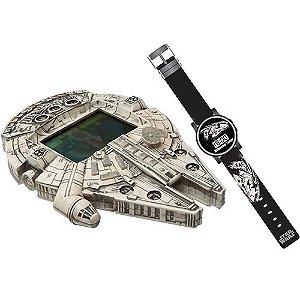 Mini Game Star Wars Millenium Falcon e Relógio Digital - Candide