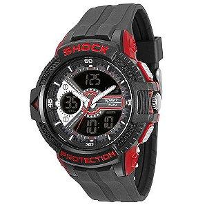 Relógio Masculino Analógico/Digital Speedo 81088G0EGNP2 – Preto c/ Vermelho
