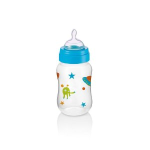 Mamadeira Boys & Girls PP Azul Ortonatural 250Ml Multikids Baby - BB105