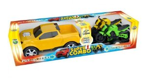 Super Combo Carrinho Pick-up Texas e 2 Motos Reboque
