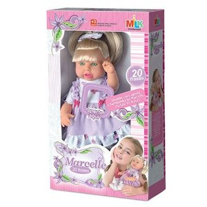 Boneca Milk Meninas Fala 20 Frases Milk Brinquedos