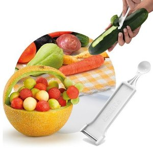 Descascador Cortador de Frutas Verduras Legumes + Boleador
