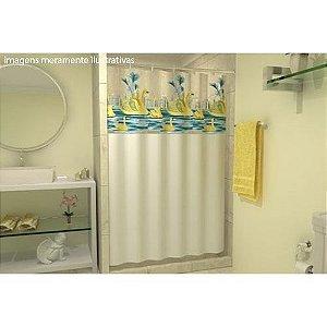 Cortina Box P/ Banheiro Estampa Garça - 2,00 x 1,38 m