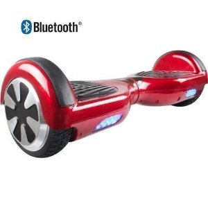 Hoverboard Skate Elétrico Segway Smart Balance Wheel com Bluetooth - VERMELHO