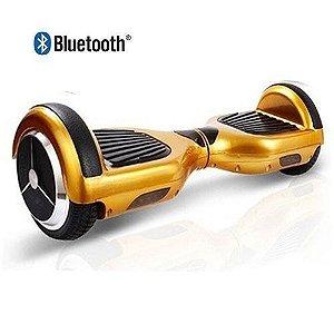 Hoverboard Skate Elétrico Segway Smart Balance Wheel com Bluetooth - DOURADO