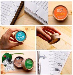 Kit colecionável de mini marcadores de livro de metal