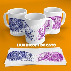 Caneca Gato mandala