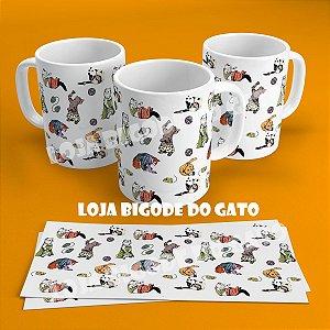 Caneca Gatos Vintage