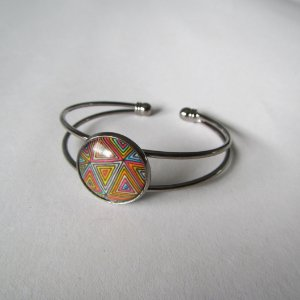 Bracelete Molas Colombianas (grafite)