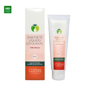 Cativa Natureza Sabonete Esfoliante Facial Pele Oleosa 80g