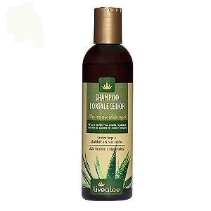 Livealoe Shampoo Fortalecedor Aloe Vera Cabelos Oleosos, com Caspa ou Danificados 240 ml