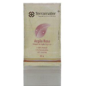 Terramater Argila Mineral Orgânica Rosa Elasticidade 30g