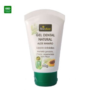 Livealoe Gel Dental Natural Aloe Mamão 60g