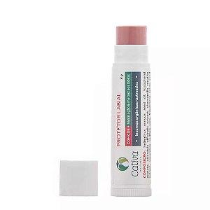 Cativa Natureza Lip Balm Protetor Labial Com Cor Carnaúba, Cacau e Cupuaçu 10 g