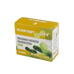 Clicktest Indicador Biologico Vapor Colorimetrico 8H Maxximed - 10 unidades