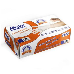 Luva de Látex Medix Para Procedimento - P