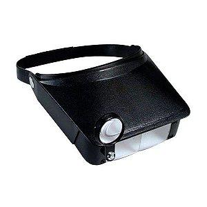 Lupa de Cabeça Pala Solver SLC 1008 com 3 Lentes de Aumento