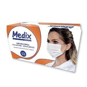 Máscara Medix Descartável Tripla Com Elástico