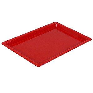 Bandeja Plastica Vermelha - Grande - Nova OGP