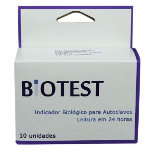 INDICADOR BIOLÓGICO BIOTEST C/ 10 UNIDADES