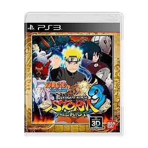 Naruto Shippuden: Ultimate Ninja Storm 3 Full Burst - PS3 (usado)