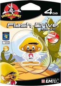 Pen Drive Looney Tunes Ligeirinho 4GB Emtec USB 2.0
