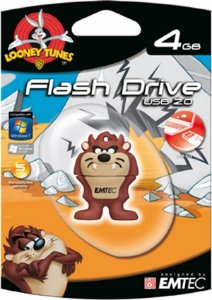 Pen Drive Looney Tunes Taz 4GB Emtec USB 2.0