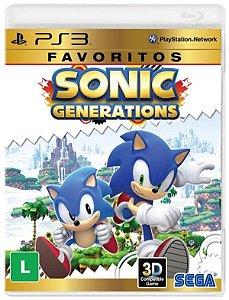 Sonic Generations Favoritos - PS3 (usado)