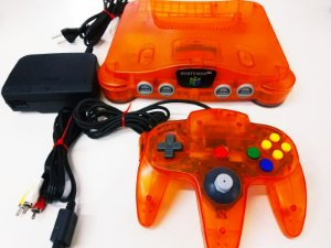 Nintendo 64 Tangerina Laranja Usado C/ 01 Controle