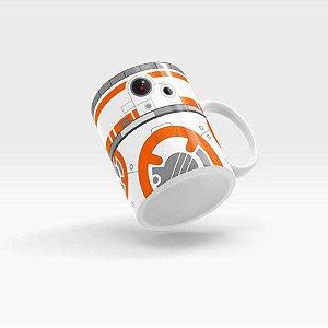 Caneca Robô Laranja Cerâmica: Beek