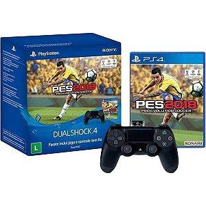 Combo Controle PS4 Dualshock 4 e PES 2018 - PS4