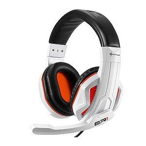 Headset Gamer Sharkoon Rush ER1 Branco/Preto PC
