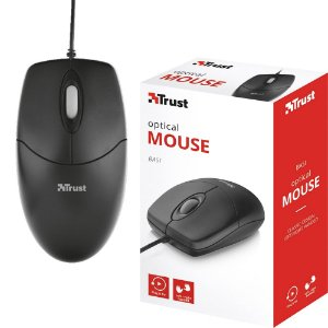 Mouse Basi Trust Black 1000dpi USB