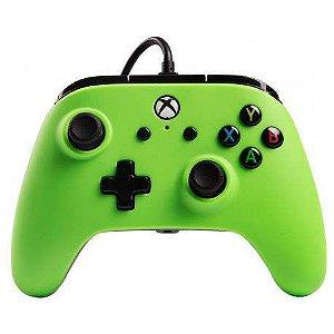 Controle Xbox One e PC Power A Green C/ Fio