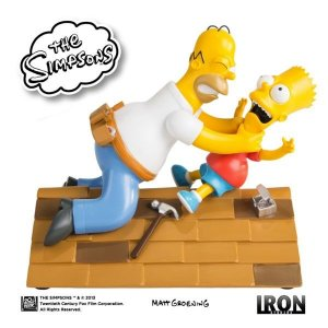 Homer Vs Bart The Simpsons - Iron Studios