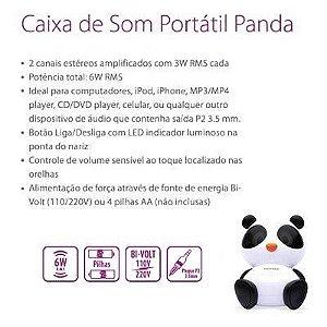 CAIXA DE SOM PANDA MAXPRINT 6W RMS