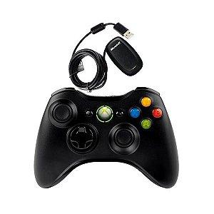 X360 Controle Xbox360/PC C/ Receptor Wireless para PC