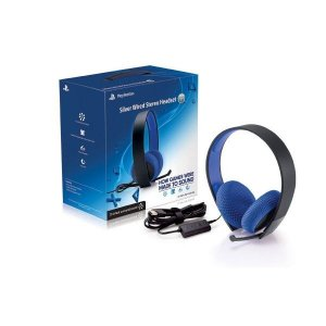Headset Silver Wired Sterio 7.1 Sony PS4/PS3/PSVita