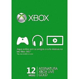 Xbox Live Gold Brasil Assinatura 12 Meses