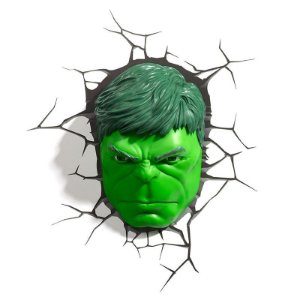Luminaria Hulk Rosto - 3D Light FX
